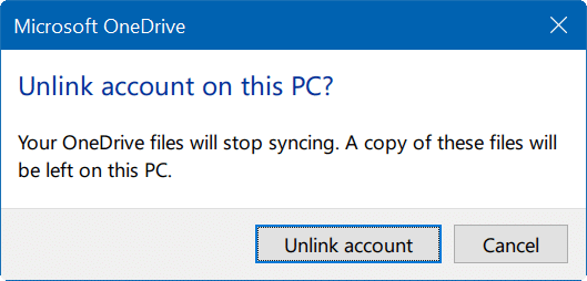move onedrive folder in Windows 10 step3