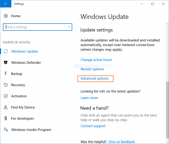 Delay or postpone Windows Update Windows 10 (2)