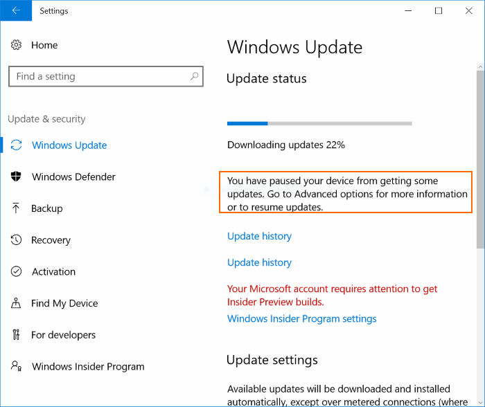 Delay or postpone Windows Update Windows 10 (4)