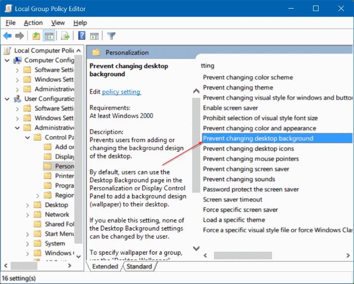 Desktop Background Not Changing Windows 10