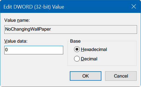 cannot change desktop background in Windows 10 pic6