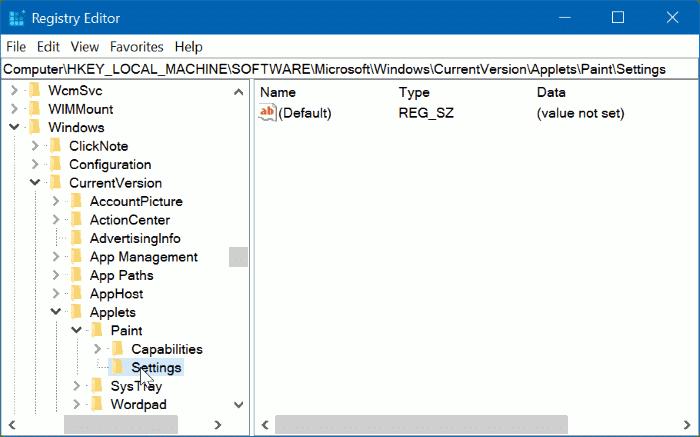 enable classic paint program in Windows 10 Creators Update pic02