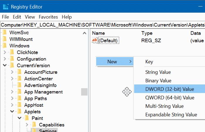 enable classic paint program in Windows 10 Creators Update pic03