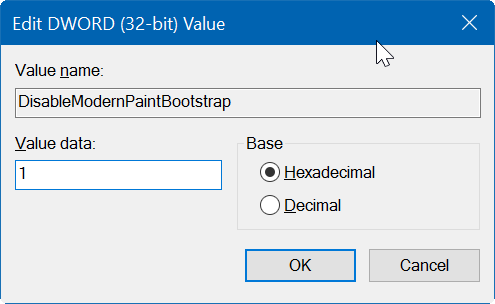 enable classic paint program in Windows 10 Creators Update pic05