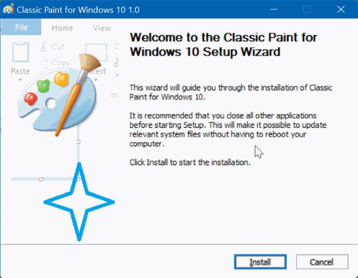 enable classic paint program in Windows 10 Creators Update pic07