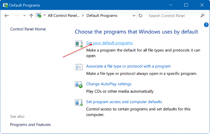 fix to unable to change default web browser or apps Windows 10 pic3