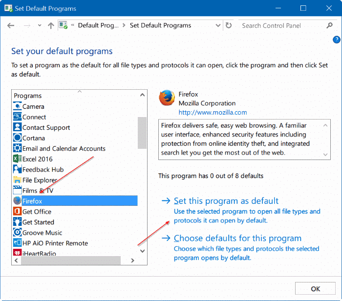 fix to unable to change default web browser or apps Windows 10 pic4