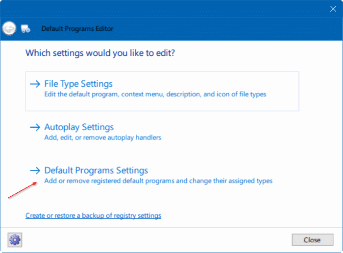fix to unable to change default web browser or apps Windows 10 pic5