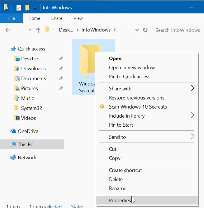 hide file and folders in Windows 10 pic1