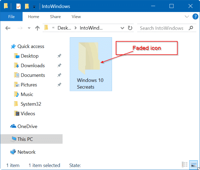 hide file and folders in Windows 10 pic3