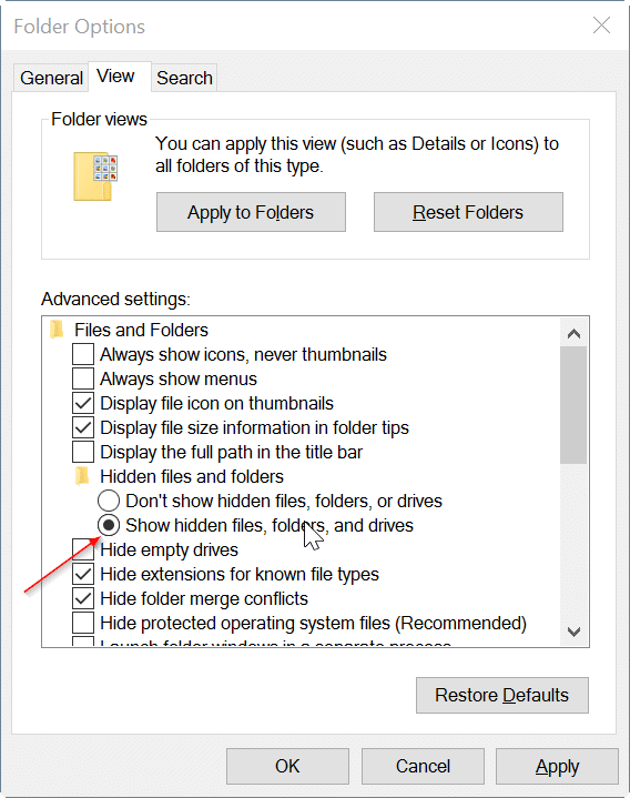 hide file and folders in Windows 10 pic6
