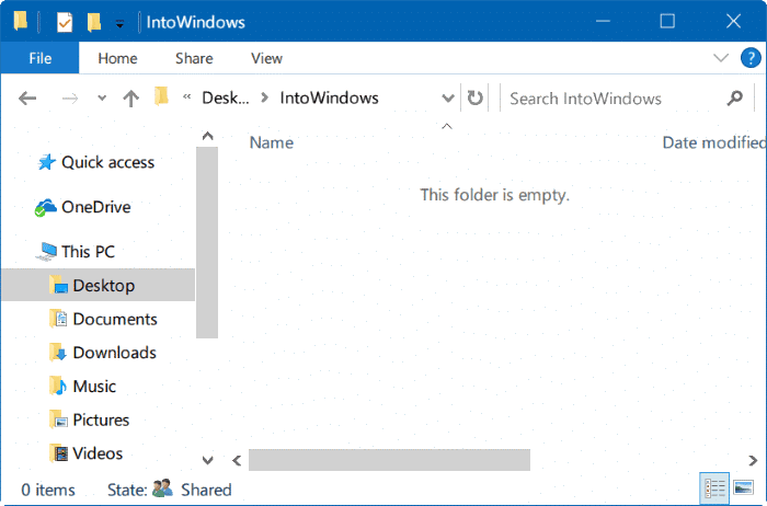 hide files and folders in Windows 10