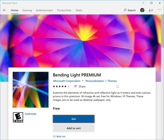 install Windows 10 themes from Store pic3