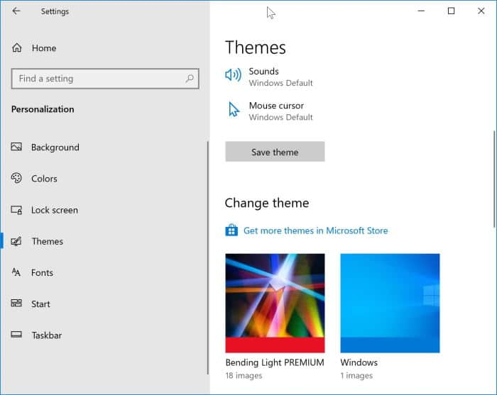 install Windows 10 themes from Store pic5