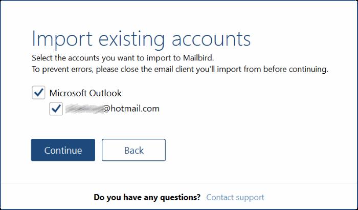 mailbird for Windows 10 pic1