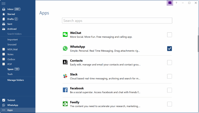 mailbird for Windows 10 pic5