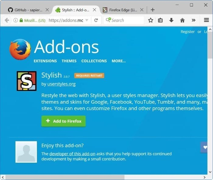 How To Make Mozilla Firefox Look Like Microsoft Edge