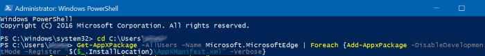 reset Microsoft Edge in Windows 10 pic7