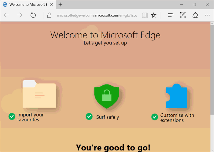 reset Microsoft Edge in Windows 10