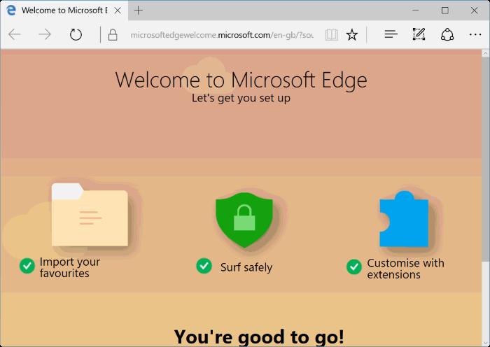 reset Microsoft Edge in Windows 10