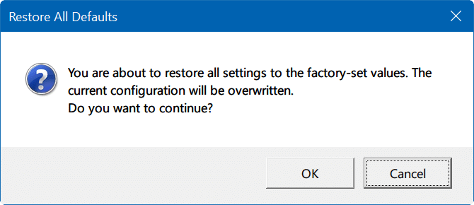 reset touchpad settings Windows 10 pic4