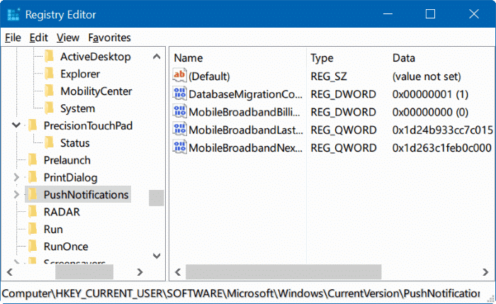 reset windows registry in Windows 10