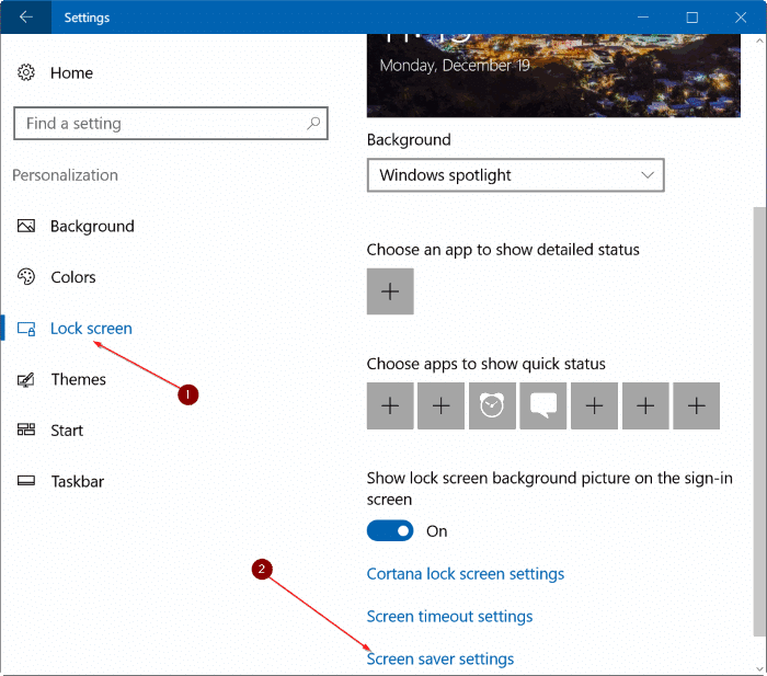 How To Set Photos As Screen Saver In Windows 10