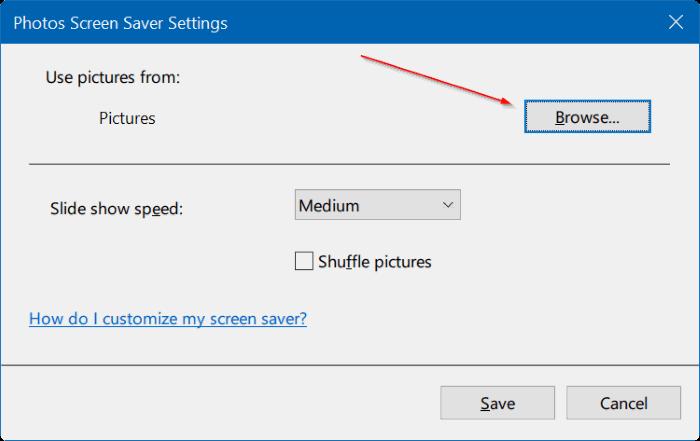 set photos as screen saver in Windows 10 pic4