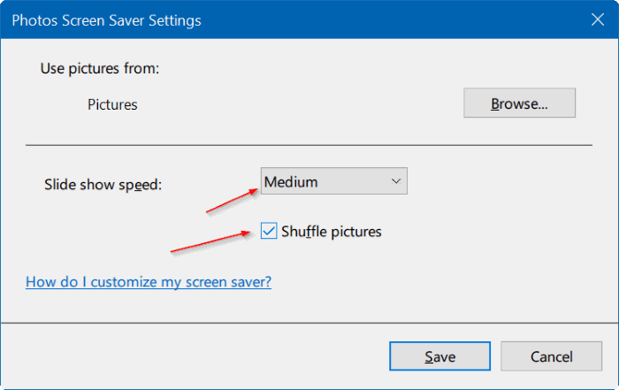 How To Set Photos As Screen Saver In Windows 10