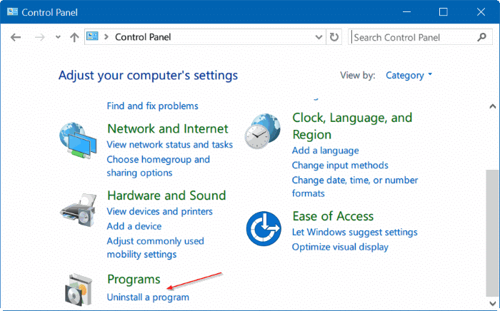turn Windows 10 features on or off pic03