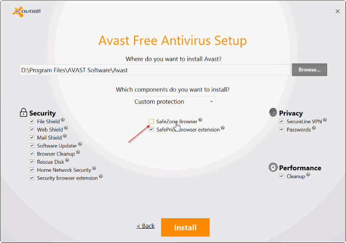 uninstall or remove avasat safezone browser from Windows PC pic02