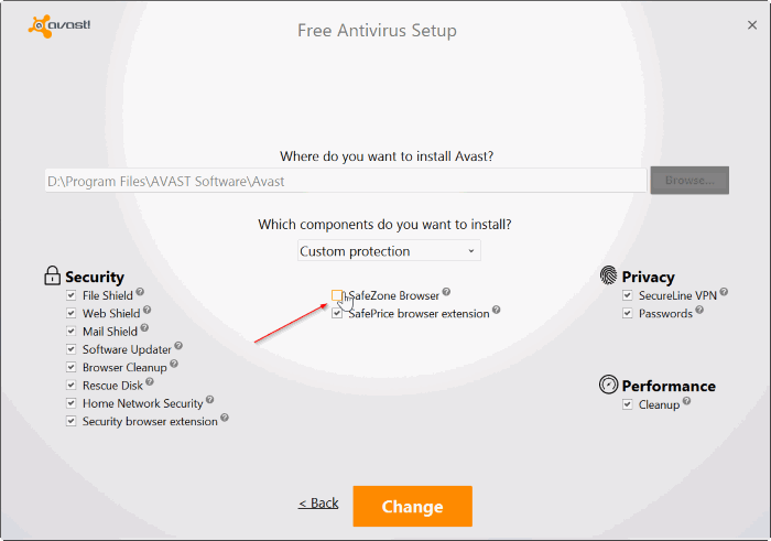 uninstall or remove avasat safezone browser from Windows PC pic4