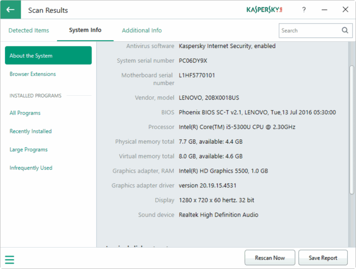 Kaspersky PC Cleaner for Windows 10 pic8