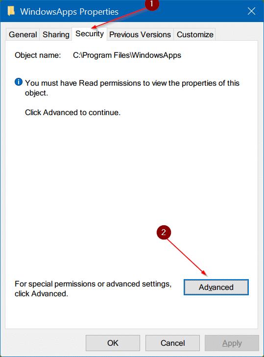 access windowsapps folder in Windows 10 pic6