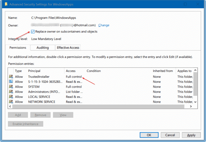 How To Access WindowsApps Folder In Windows 10