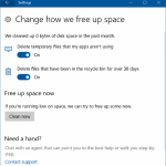 How To Automatically Free Up Disk Space In Windows 10