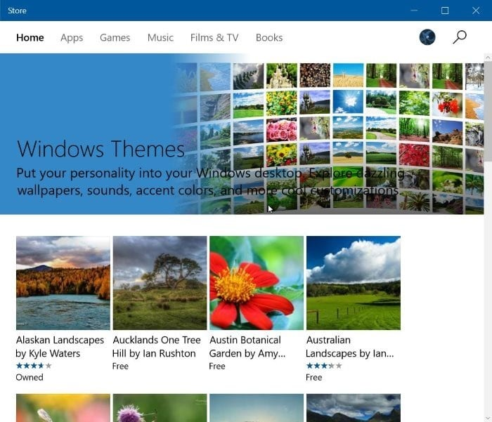 Download Windows 10 Themes From Store For Free