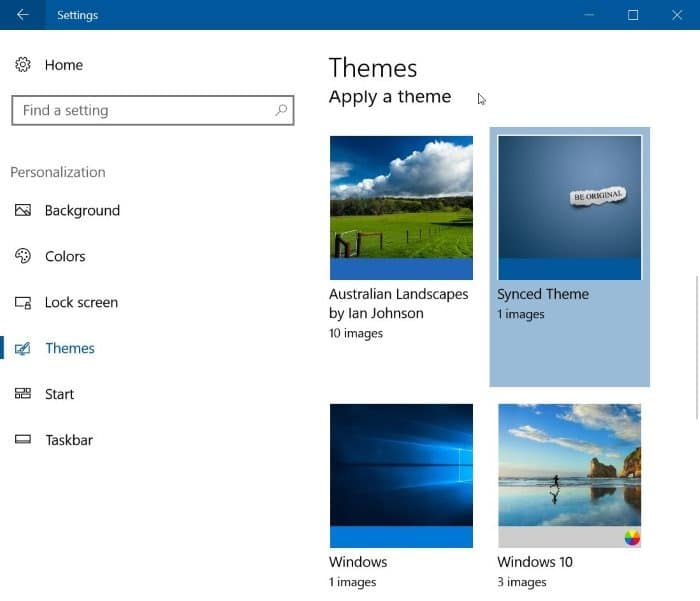 download Windows 10 themes from Store pic5