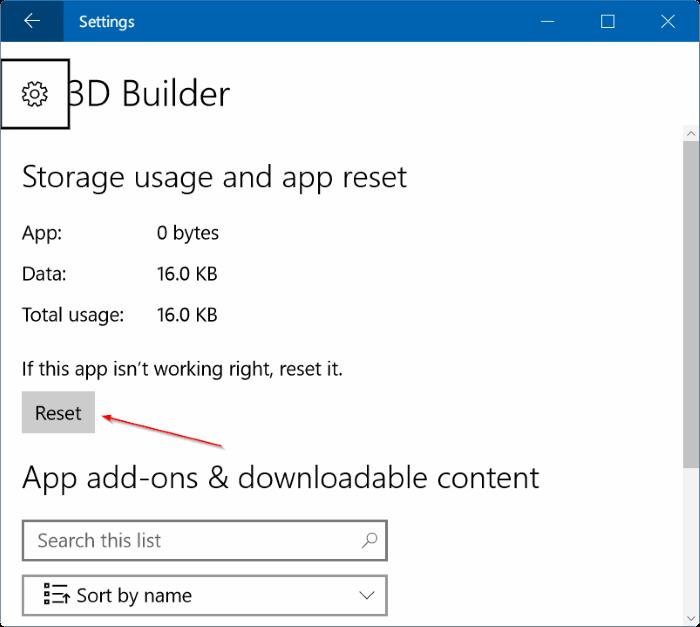repair Windows 10 apps pic2
