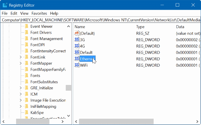 set ethernet connection as metered in Windows 10 pic8