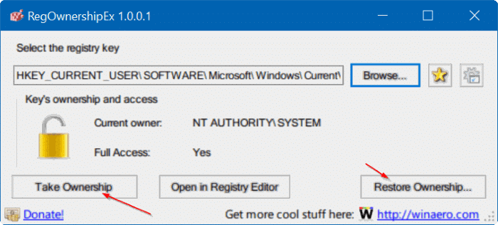 take ownership of Registry in Windows 10 pic9