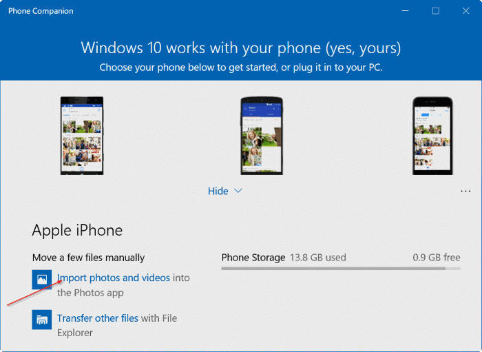 transfer iphone photos to Windows 10 PC pic10