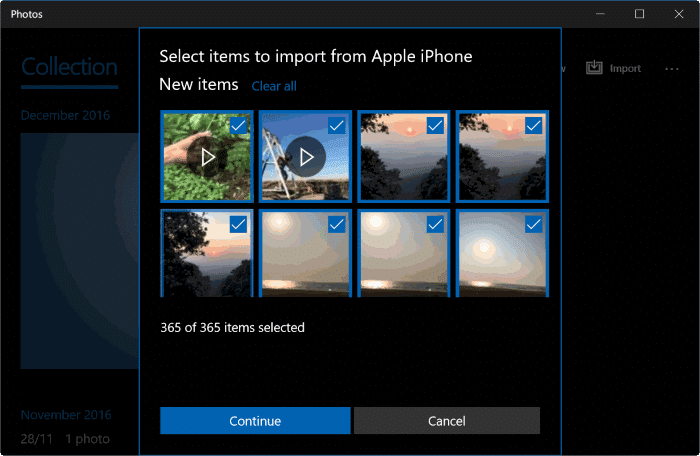how to import and delete all iphone photos
