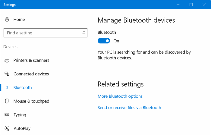 Pair iphone with Windows 10 via Bluetooth (01)