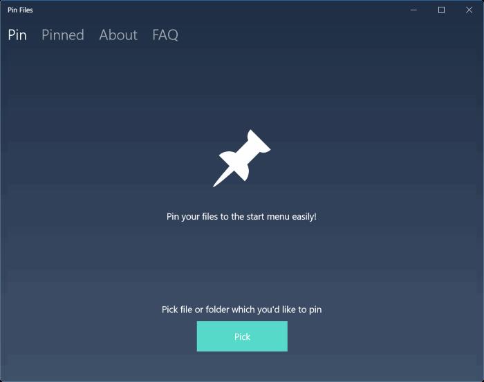 pin files to start menu in windows 10