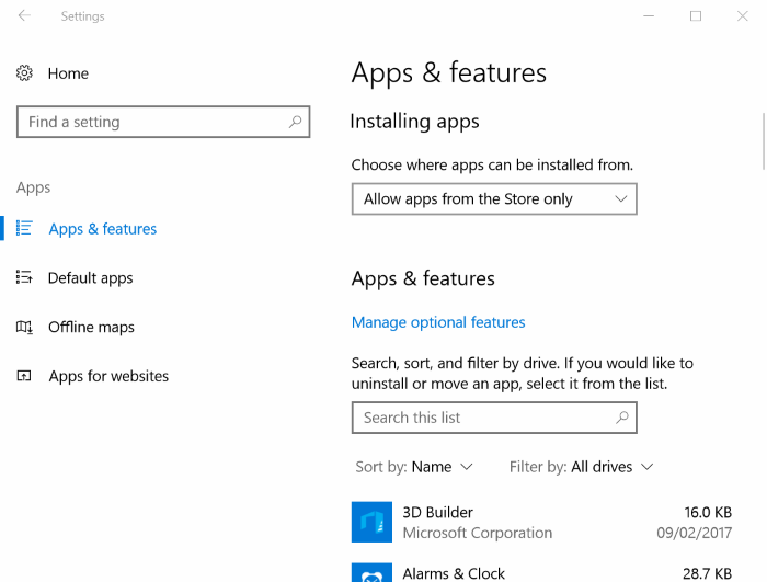 apps features in Windows 10 Creators Update pic1