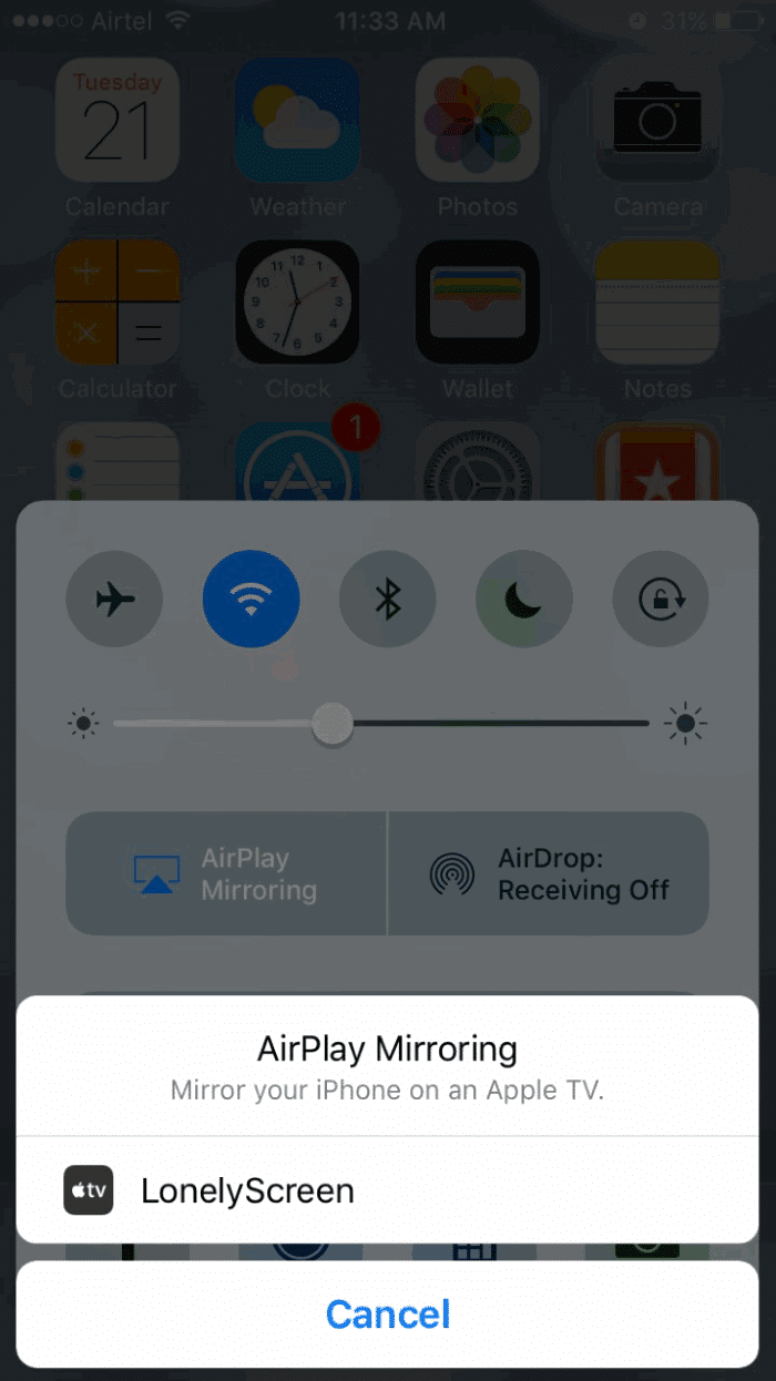 mirror iphone ipad screen on Windows 10 PC pic4