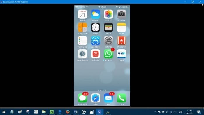 screen mirroring on iphone how to mirror or iphone screen on windows 10 pc 2205