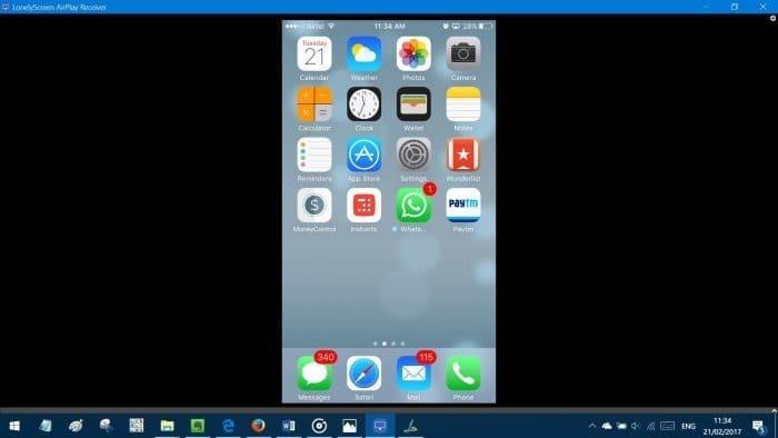mirror iphone ipad screen on windows 10