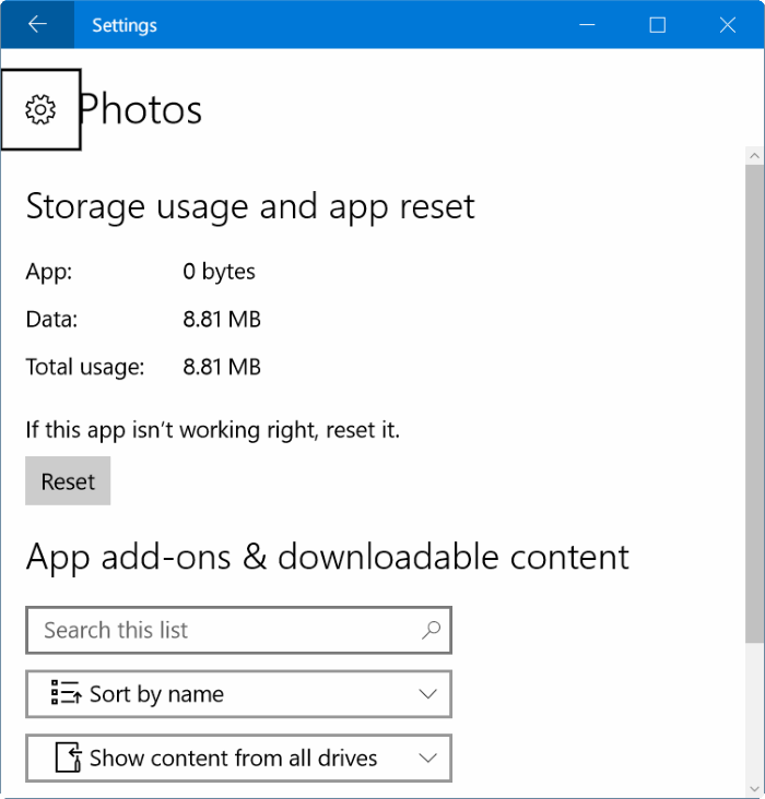 photos app opening slowly in Windows 10 pic2